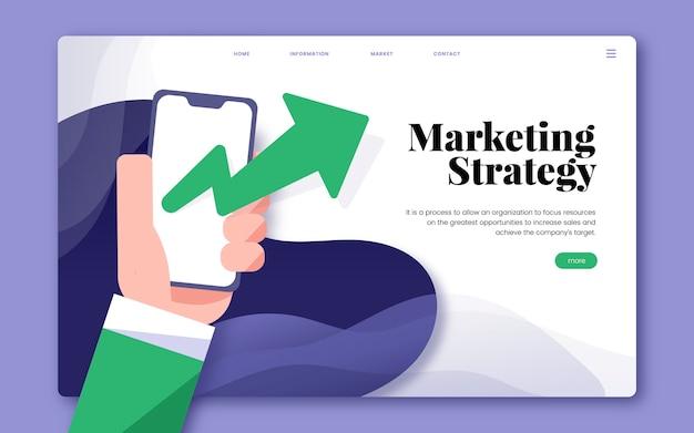 Gráfico informativo del sitio web de estrategia de marketing