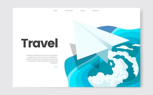 Gráfico informativo web de viajes y ocio.