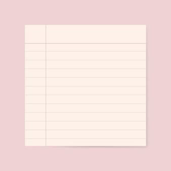 Gráfico de papel rayado en blanco