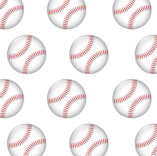 Gráfico de patrones sin fisuras de pelota de béisbol