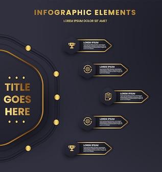 Gráfico de plantilla de infografía de lujo