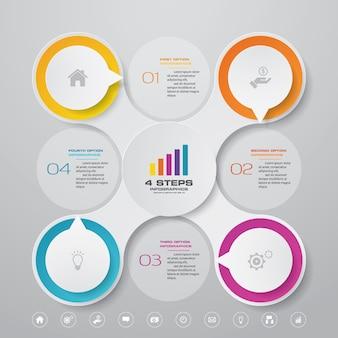 Gráfico de presentación elemento infográfico
