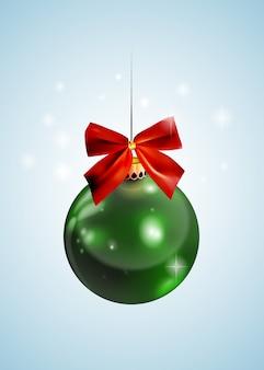 Gráfico realista brillante año nuevo bola de navidad