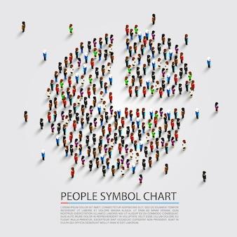 Gráfico de signo de personas, portada de personas, ilustración vectorial