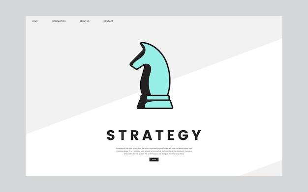 Gráfico de sitio informativo de estrategia empresarial