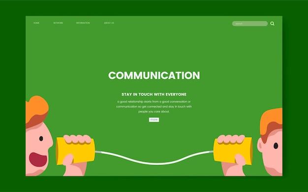 Gráfico del sitio web de comunicación e información
