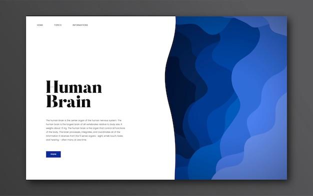 Gráfico del sitio web informativo del cerebro humano