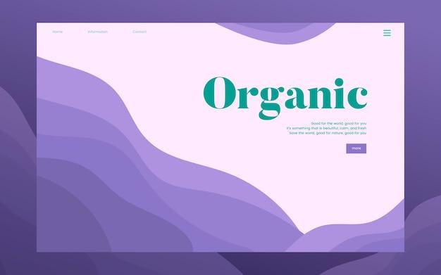 Gráfico de sitio web informativo de plantación orgánica