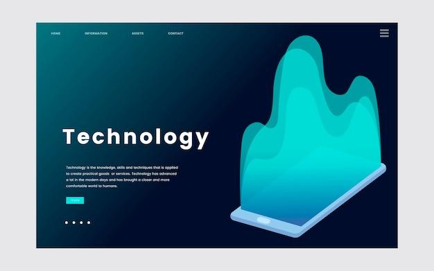 Gráfico del sitio web informativo de tecnología e informática