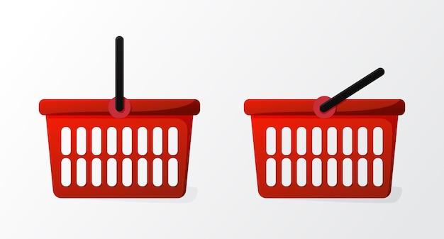 Gráfico de vector de ilustración de la cesta de la compra sobre fondo blanco apto para negocios de iconos