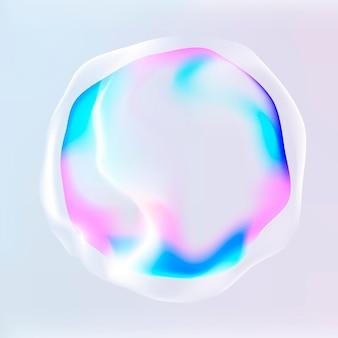 Gráfico vectorial de círculo de tecnología de asistente virtual en rosa neón