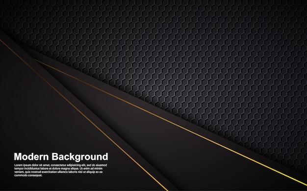 Gráfico vectorial de ilustración de lujo de color negro de fondo abstracto