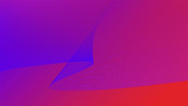 Gráfico vibrante colorido de la onda 3d