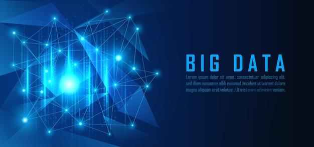 Gráfico de visualización de datos grandes en concepto futurista