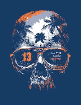 Gráficos de camisetas urbanas vintage, ilustración dibujada a mano, textura grunge.