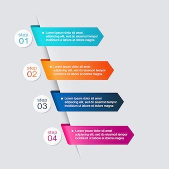 Gráficos coloridos de información para sus presentaciones de negocios.