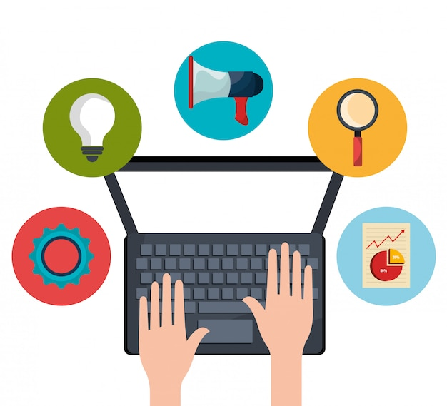 Gráficos digitales y de marketing social.