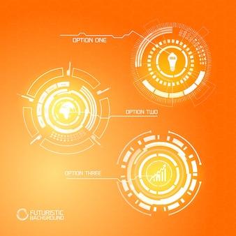 Gráficos futuristas virtuales modernos