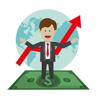 Gráficos de ganancias, ilustración vectorial