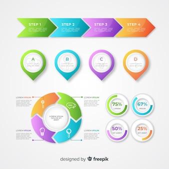 Gráficos infográficos de desarrollo empresarial