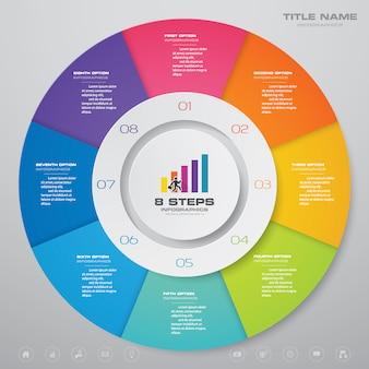 Gráficos infográficos de elementos.