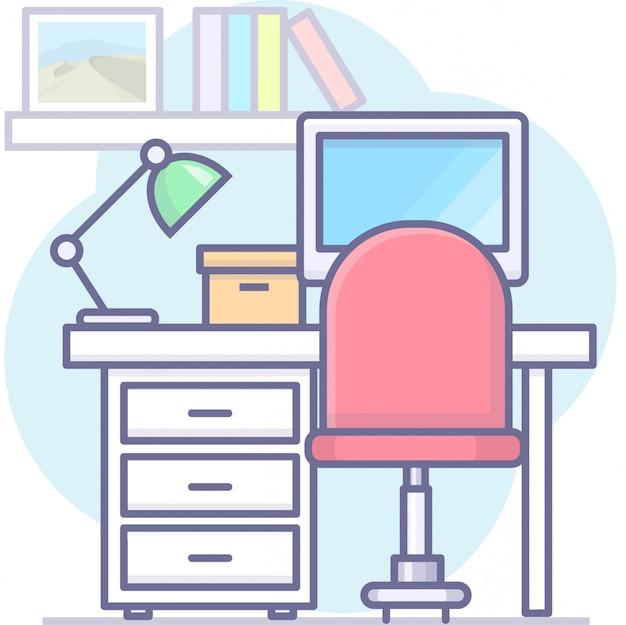 Gráficos de negocios con oficina