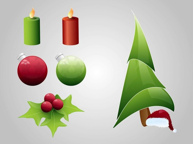 Gráficos vectoriales celebración festiva de la navidad
