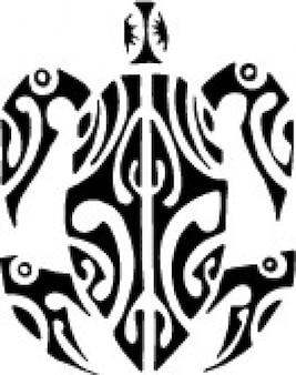 Gráficos vectoriales imagen tortugas tribales