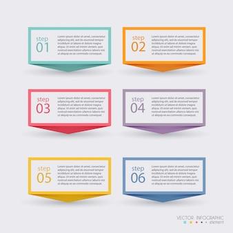 Gráficos vectoriales de información de colores para sus presentaciones de negocios.