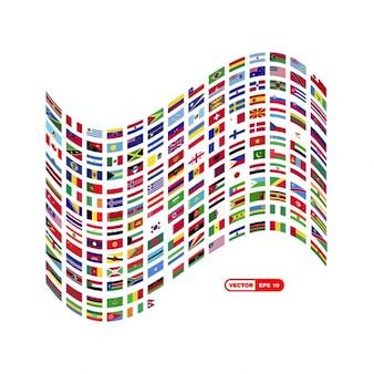 Gran bandera hecha de pequeñas banderas
