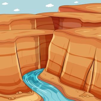 Gran cañón con río