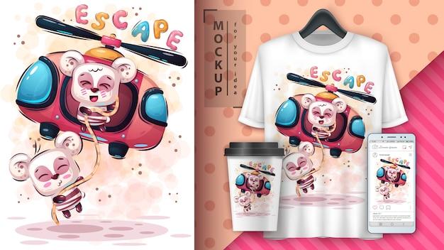 Gran cartel de escape y merchandising