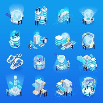 Gran colección de elementos de procesamiento de datos