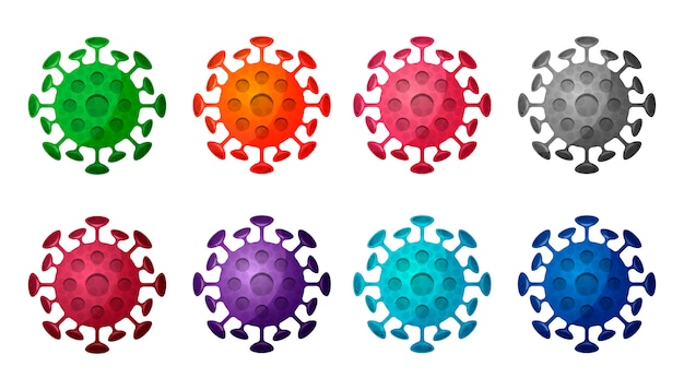 Gran colección de moléculas de coronavirus aisladas.