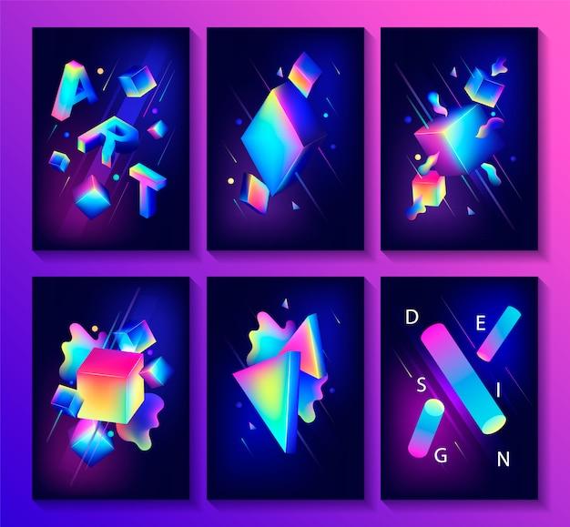 Gran conjunto de carteles de diseño creativo.