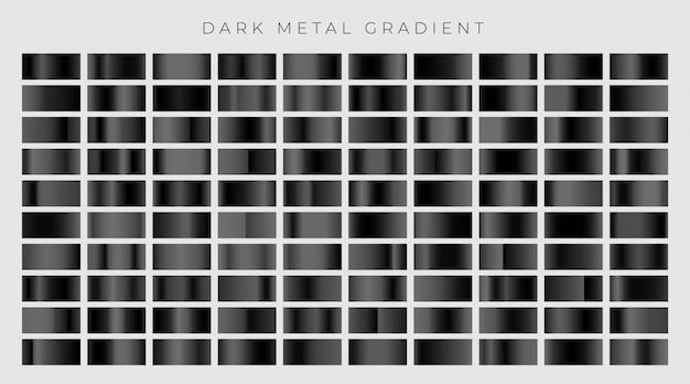 Gran conjunto de degradados oscuros o negros