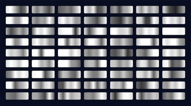 Gran conjunto de gradientes de plata.