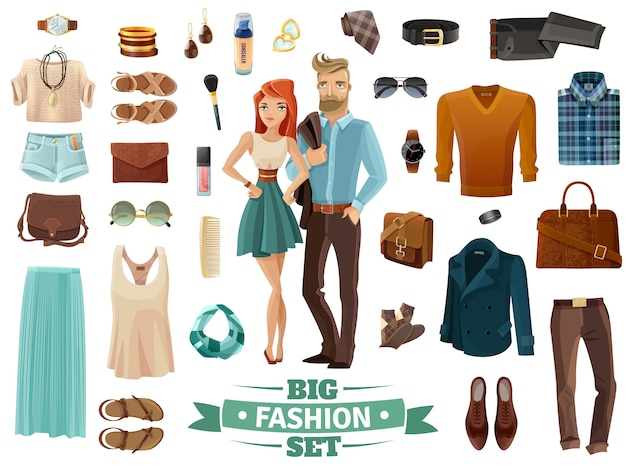Gran conjunto de moda