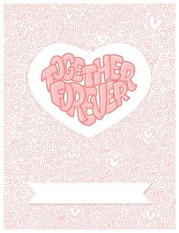 Gran corazón con letras