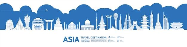 Gran destino turístico de asia