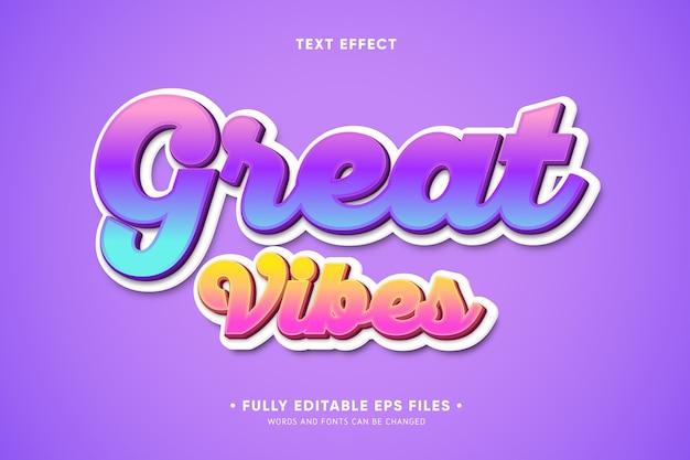 Gran efecto de texto de vibraciones