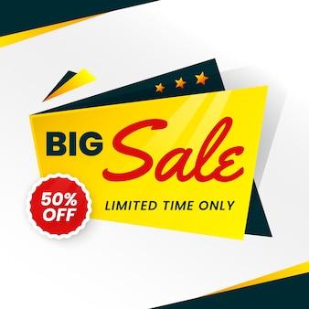Gran estilo de origami de banner de ventas por tiempo limitado
