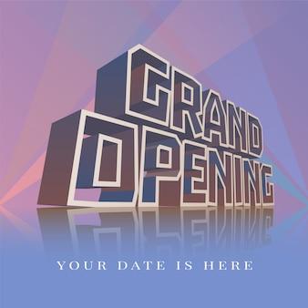 Gran inauguración banner, póster, ilustración, folleto, invitación