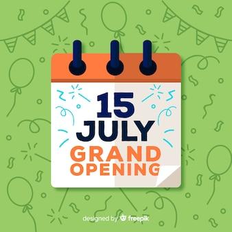Gran inauguración con calendario