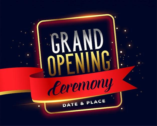 Gran inauguración invitación ceremoney atractiva