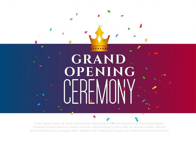 Gran inauguración de la plantilla de celebración.