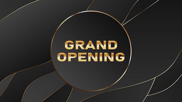 Gran inauguración vector banner. plantilla festiva para la ceremonia de apertura