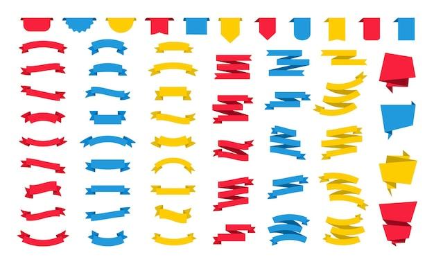 Gran juego de cintas. cintas de colores modernos.