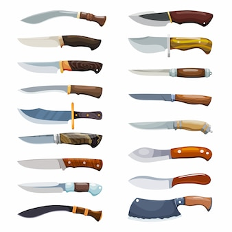 Gran juego de cuchillos criminales