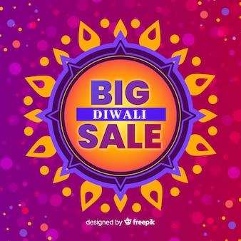 Gran oferta de venta diwali diseño plano